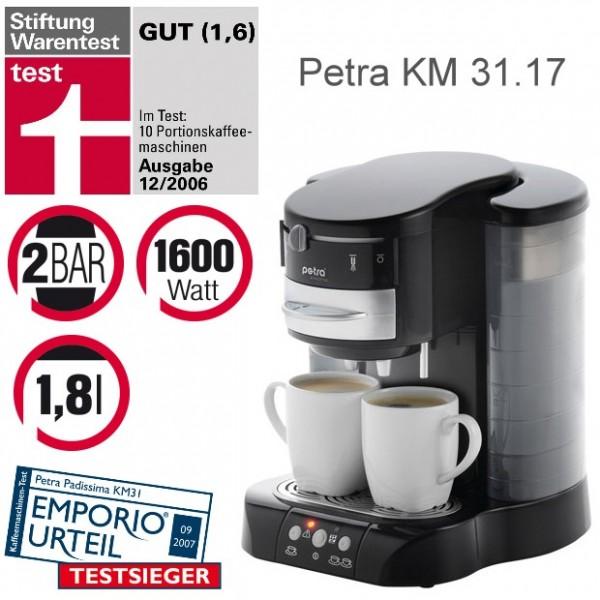 petra kaffee padautomat km padissima 2 3in1 km31 ebay. Black Bedroom Furniture Sets. Home Design Ideas