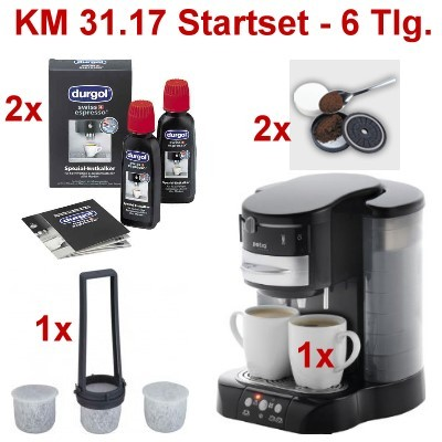 petra km kaffeepadmaschine startset 6 tlg ebay. Black Bedroom Furniture Sets. Home Design Ideas